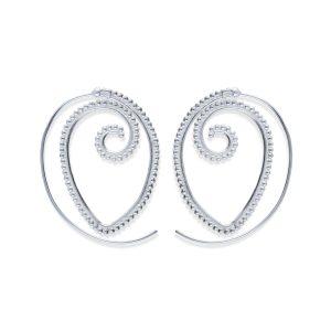pendientes gipsy espiral ovalado