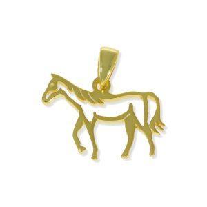 Colgante caballo dorado
