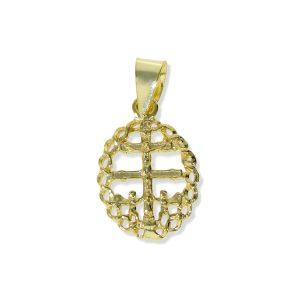 Colgante cruz de Caravaca dorado