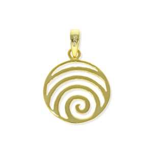 Colgante espiral dorado