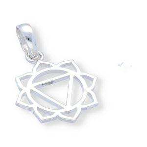 Colgante flor con triángulo central