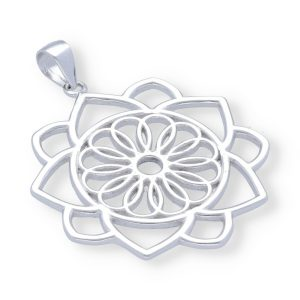 Colgante mandala con flor de la vida