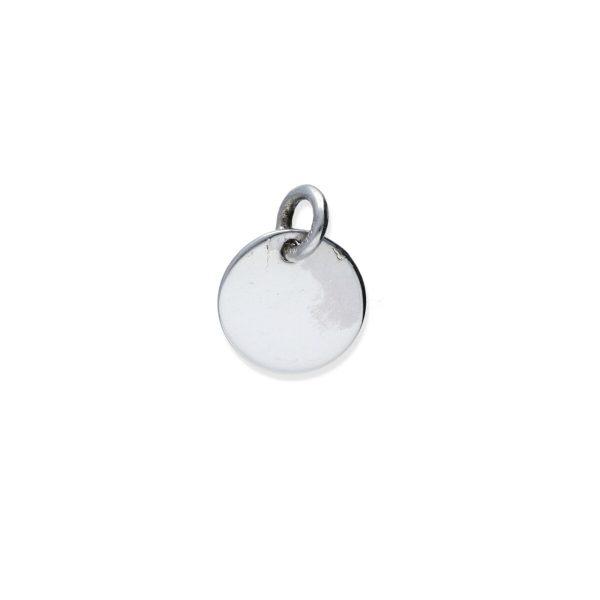Colgante plata de ley 925 lisa círculo mini de 9,2mm.