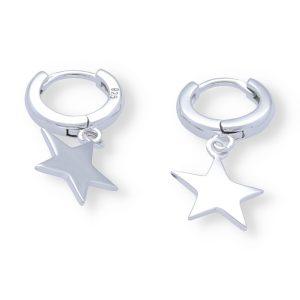 Pendientes aro con estrella