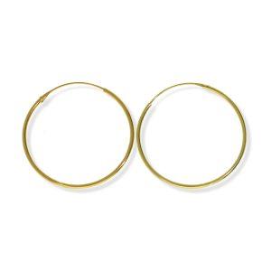 Aros lisos dorados 1,5x50mm