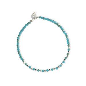 Pulsera de cuentas azul claro de piedras y cristal