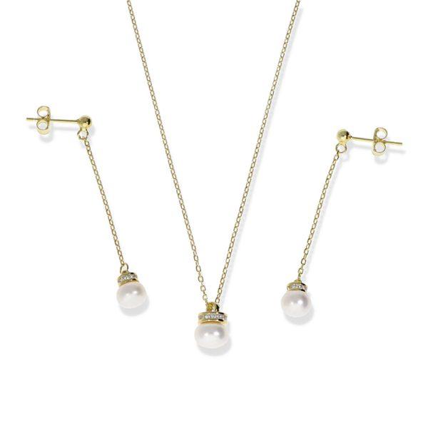 Conjuntos de plata de ley con perla
