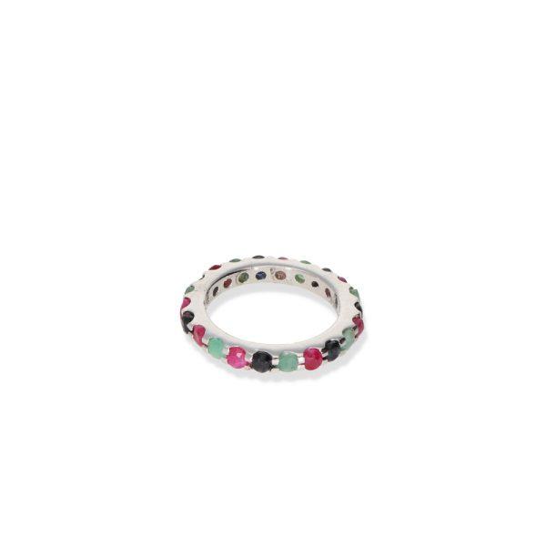 anillo alianza con piedra preciosa