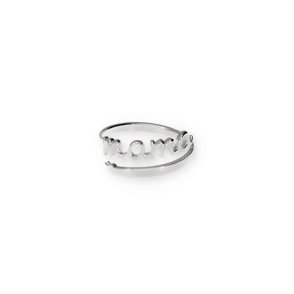 anillo mama plata