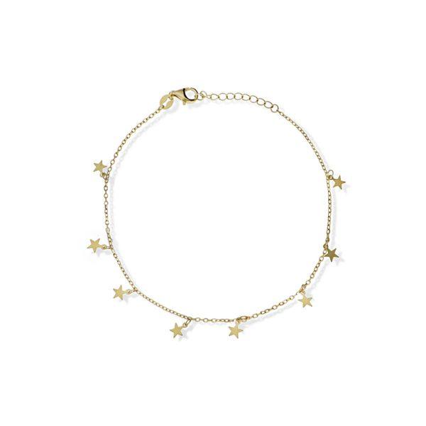 tobillera estrella dorada